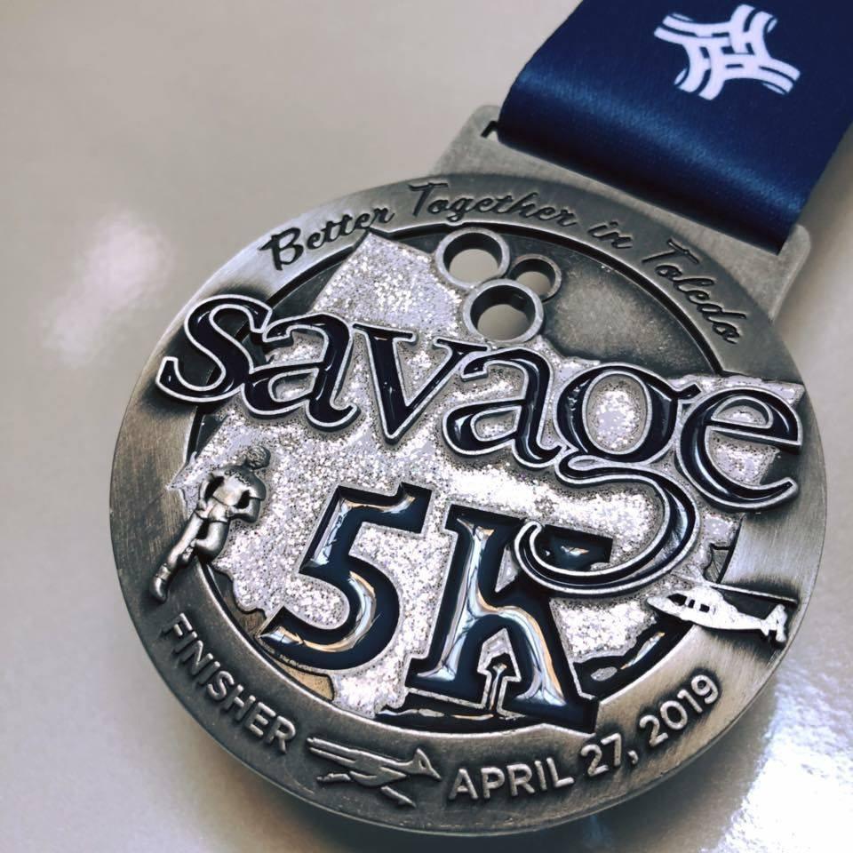 Savage 5K Medal
