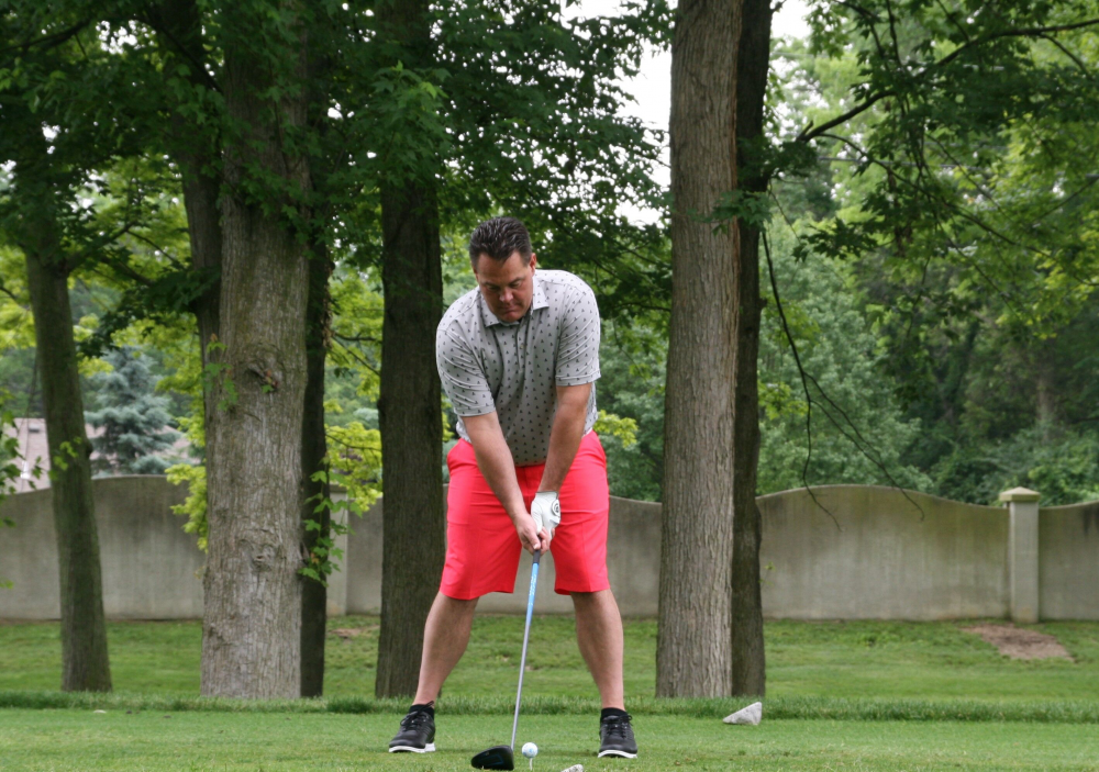 Golfer at Savage Golf Classic 2019