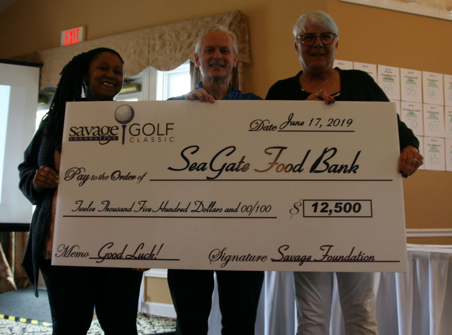 Donation at Savage Golf Classic 2019